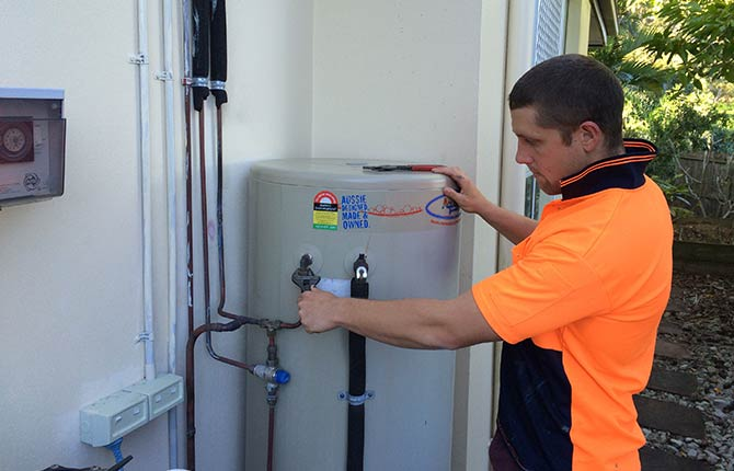 gas hot water service